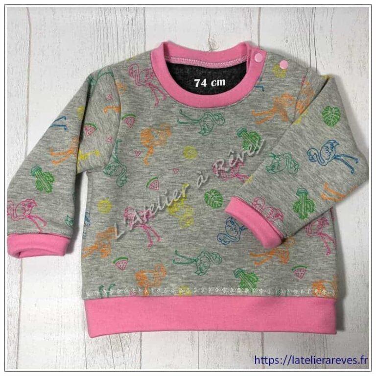 Sweat shirt rose pour bébé