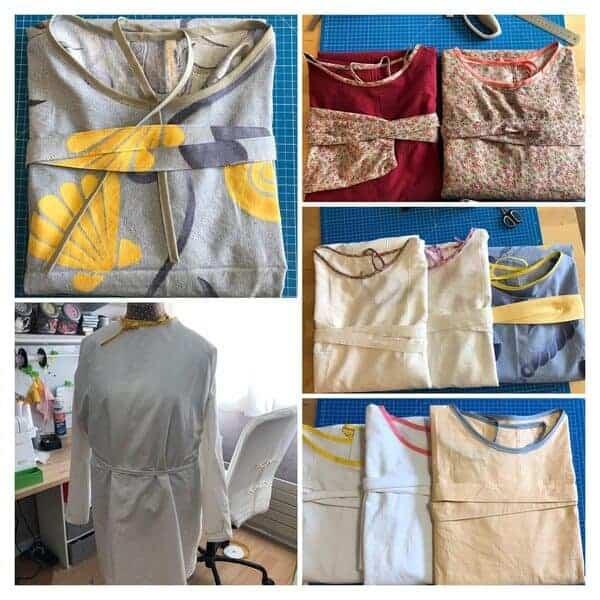 Confection de blouses pour le personnel de l'Ehpad
