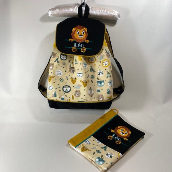 Parure naissance – sac à dos & protège carnet de santé